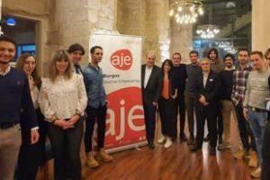El consejero delegado de Hiperbaric Andrés Hernando participa en el coloquio de Aje Burgos