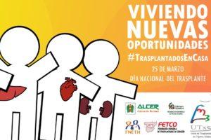 Las personas trasplantadas lanzan la campaña 'Viviendo nuevas oportunidades: #TrasplantadosEnCasa en el Día Nacional del Trasplante