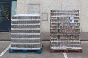 Donación de productos de la cooperativa Navarra AN al Banco de Alimentos de Burgos