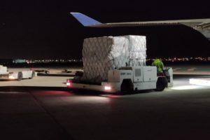 Castilla y León recibe 4 nuevos vuelos con más de 2,6 millones de artículos de material de protección individual
