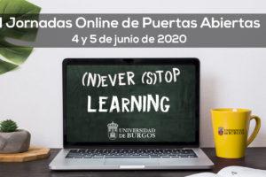 La Universidad de Burgos celebrará sus I Jornadas Online de Puertas Abiertas los días 4 y 5 de junio