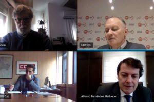 Fernández Mañueco anima a los agentes del Diálogo Social a hacer aportaciones al futuro pacto por la reconstrucción de Castilla y León