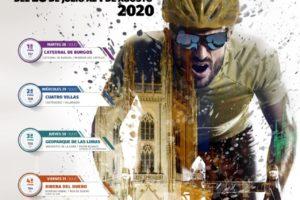 El cartel de la XLII Vuelta a Burgos se fusiona con la catedral simbolizando el inicio del 'nuevo' ciclismo