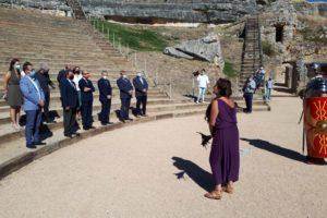 El teatro romano de Clunia recupera su espacio y mejora su funcionalidad gracias a la colaboración entre la Consejería de Cultura y Turismo y la Diputación de Burgos