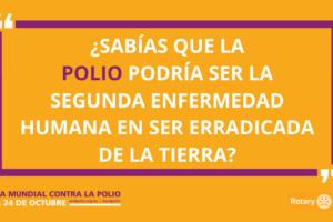 El club Rotario de Burgos se suma a los actos conmemorativos del Día Mundial de la Poliomielitis