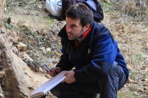 El profesor Eneko Iriarte mostró el proyecto gastronómico vinculado a la Evolución Humana en la feria de Bérgamo
