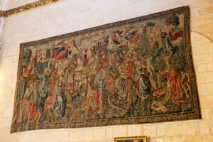 La Fundación VIII Centenario de la Catedral. Burgos 2021 restaurará y limpiará dos tapices flamencos de la Seo por 80.000 euros