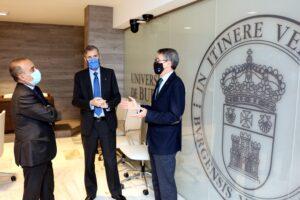 La Universidad de Burgos y las Fundaciones de Ibercaja y Cajacírculo han suscrito esta mañana tres convenios de colaboración