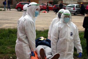 El GREM y los alumnos de la Facultad de Ciencias de la Salud realizan un simulacro de accidentes con múltiples víctimas