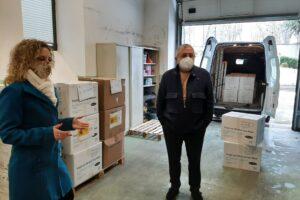 La Subdelegación distribuye 88.000 mascarillas como apoyo a las entidades locales y a las familias más necesitadas