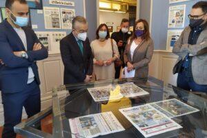 La Exposición Prensa escrita en papel de CyL en tiempos de la COVID-19 rinde homenaje en el Palacio de la Isla al rigor informativo de la cobertura de la pandemia