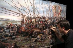 El pintor Augusto Ferrer-Dalmau repasará la historia de España a través de sus cuadros el jueves 20 en la Catedral de Burgos