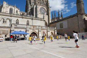 150 niños y niñas participan en la Copa del VIII Centenario de la Catedral de Burgos