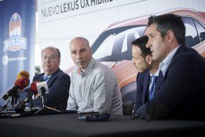 El hasta ahora entrenador del Hereda San Pablo Burgos, Joan Peñarroya se despide de Burgos
