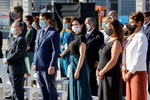 El presidente de Castilla y León al homenaje de Estado a las víctimas del coronavirus y al personal sanitario