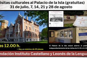 Los Sábados en Palacio del Instituto Castellano y Leonés de la Lengua ofrece una visita guiada y una ruta literaria por el Paseo de la Isla