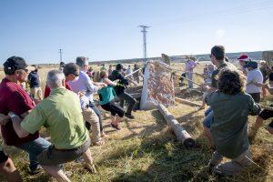 En la localidad de Atapuerca se levantó un menhir prehistórico