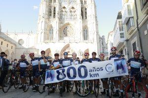 Durante tres días 11 corredores han participado en la ruta de ciclismo de ultrafondo '800 años-800 km