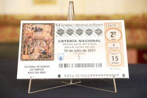 El VIII Centenario de la Catedral de Burgos protagoniza el décimo de Lotería Nacional del sábado 10 de julio