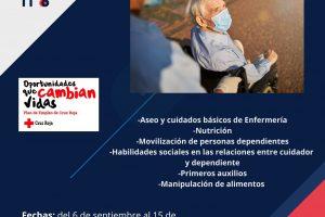 Cruz Roja programa en Burgos un nuevo curso de cuidado de personas dependientes