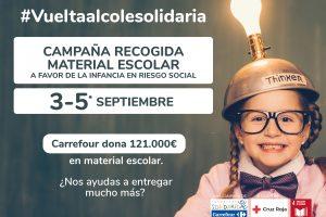 Fundación Solidaridad Carrefour y Cruz Roja promueven la Vuelta al Cole Solidaria a favor de la infancia en  vulnerabilidad social de Burgos