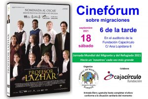 Este sábado 18 Cinefórum sobre Migraciones en el auditorio de Fundación Cajacírculo