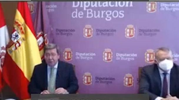 César Rico presidente de la Diputación de Burgos presenta la liquidación del presupuesto 2020