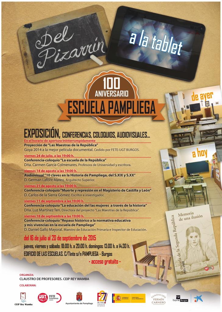 cartel Pampliega Expo Del pizarrin a la tablet