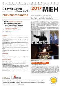MASTER CUENTOS CANTOS -RRSS